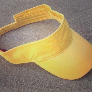 Yellow Visor Basic Solid Travel Casual Hat Cap 🧢